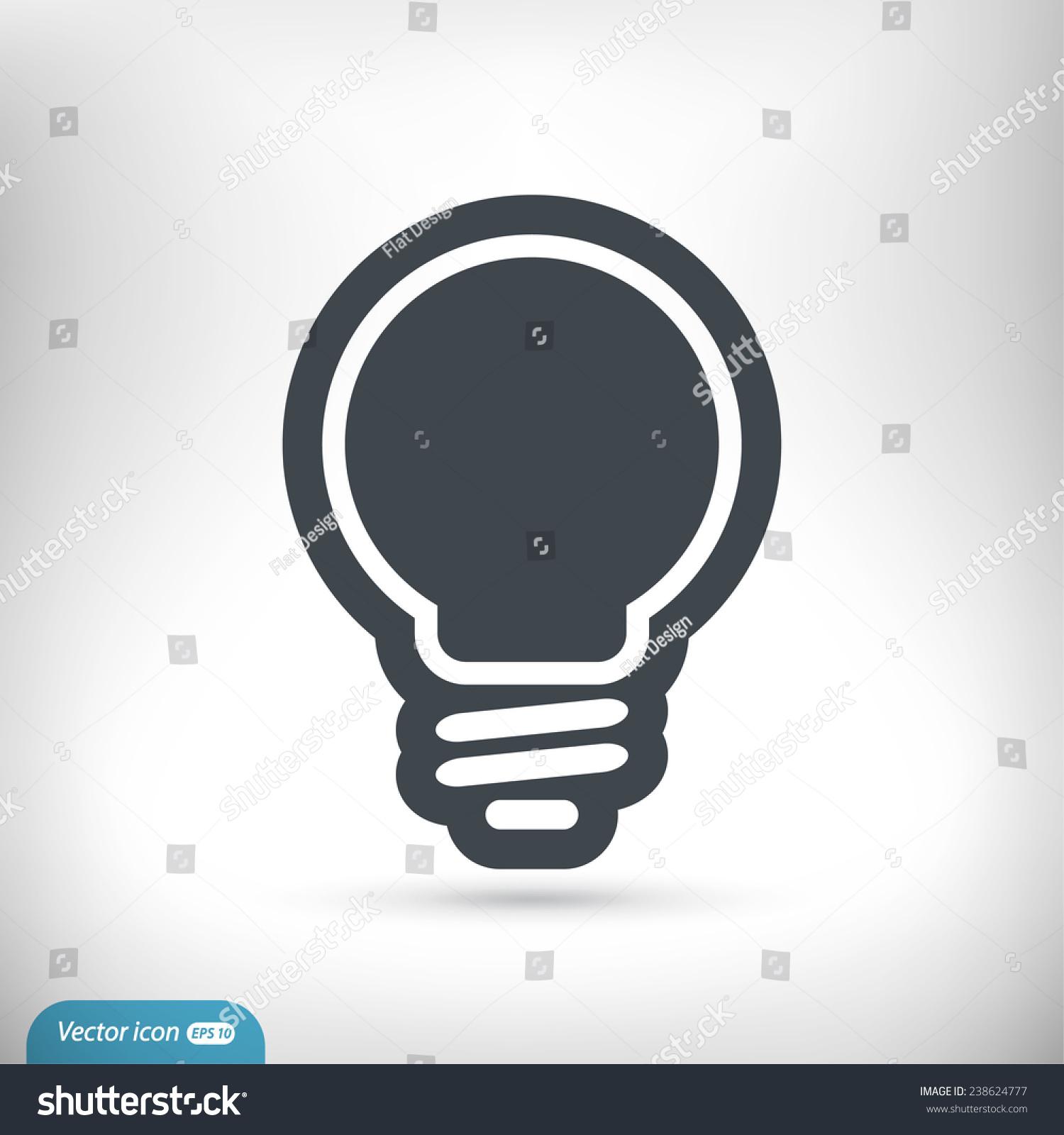 灯泡图标,矢量图.平面设计风格-科技,符号/标志-海洛