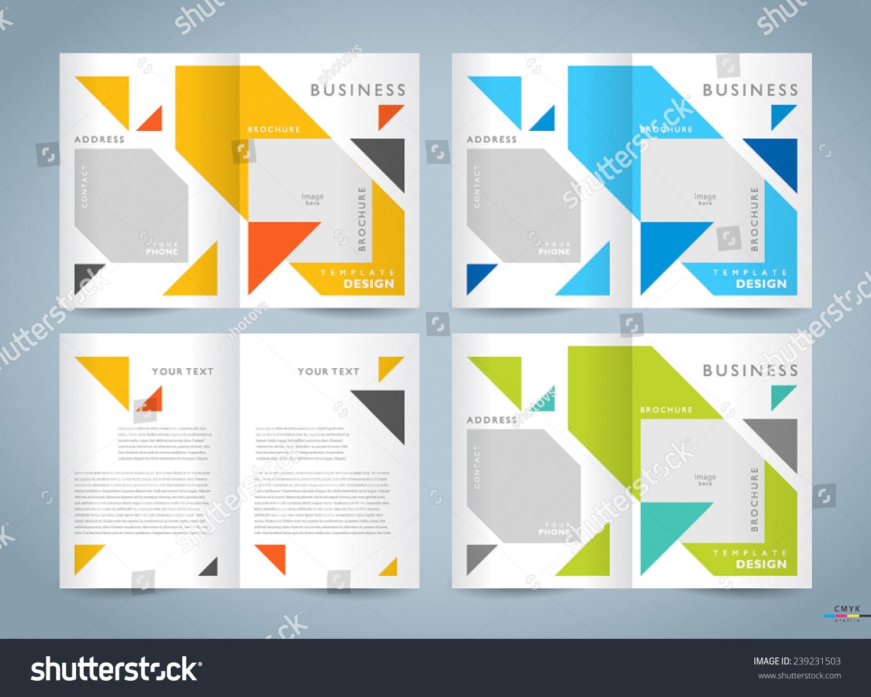 宣传册设计模板向量集,小册子几何抽象的三角形图,cmyk概要文件图片