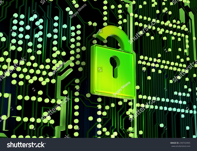 锁电路的概念数字图像的背景-背景/素材