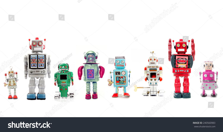 一条复古的机器人-物体,复古风格-海洛创意(hellorf)