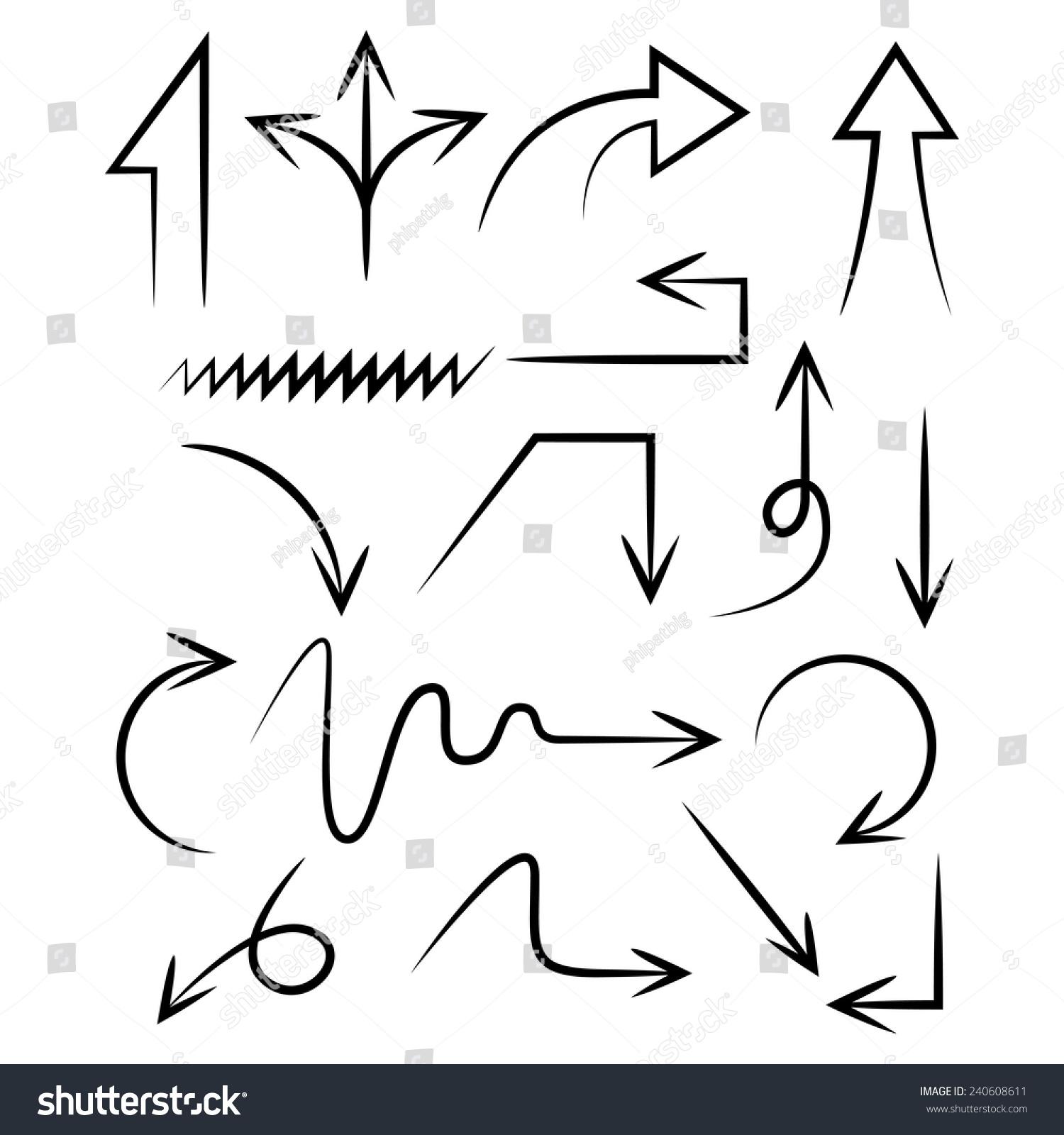 流程箭标ppt素材