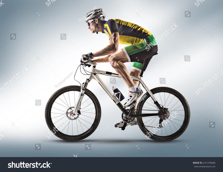骑自行车的人,骑自行车对白色背景分离-运动/娱乐