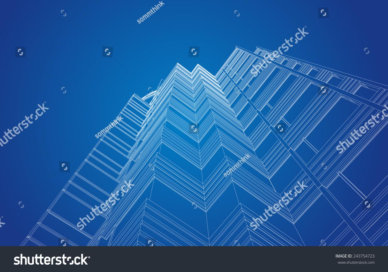 现代建筑透视图的向量-建筑物/地标,抽象-海洛创意()
