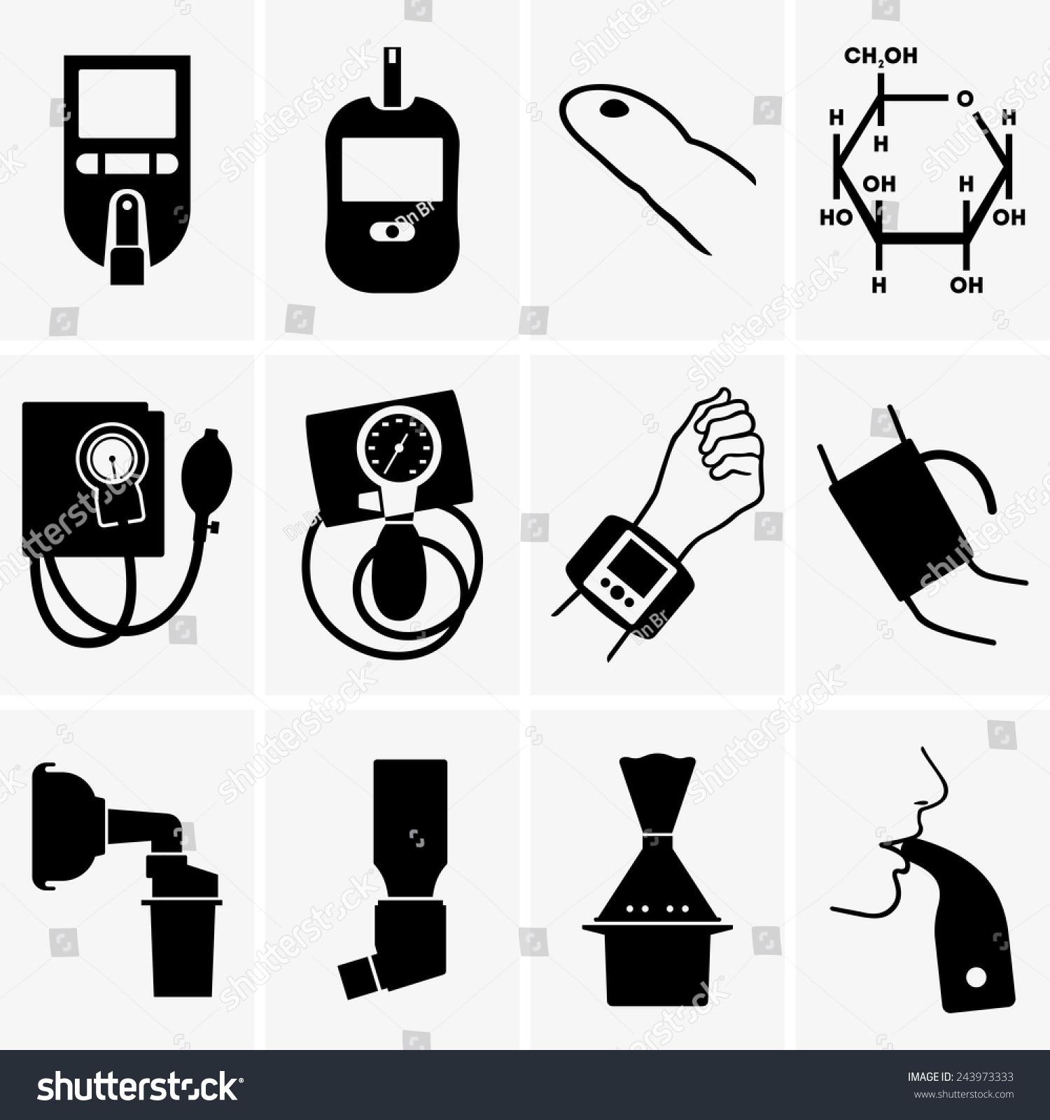 血压可爱简笔画图标