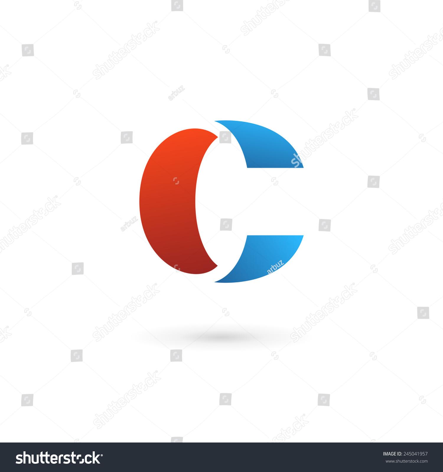 字母c标志图标设计模板元素