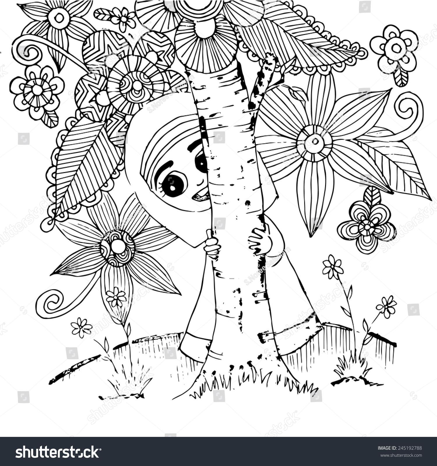 保护树木创意画