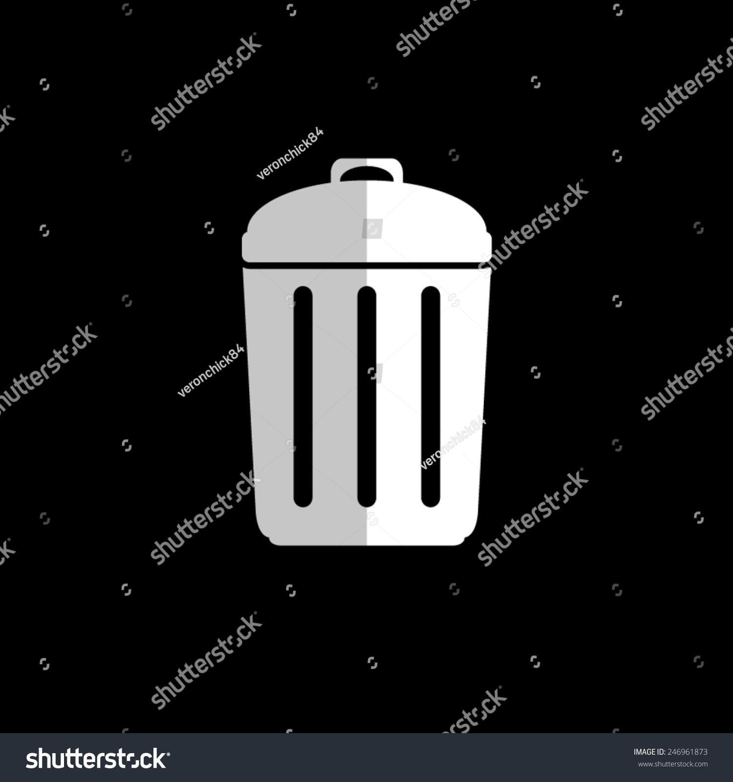 垃圾桶-矢量图标,平面设计-科技