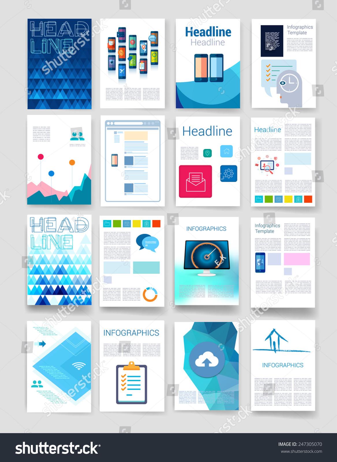 模板.传单,小册子设计模板.移动技术,应用和信息图表的概念.