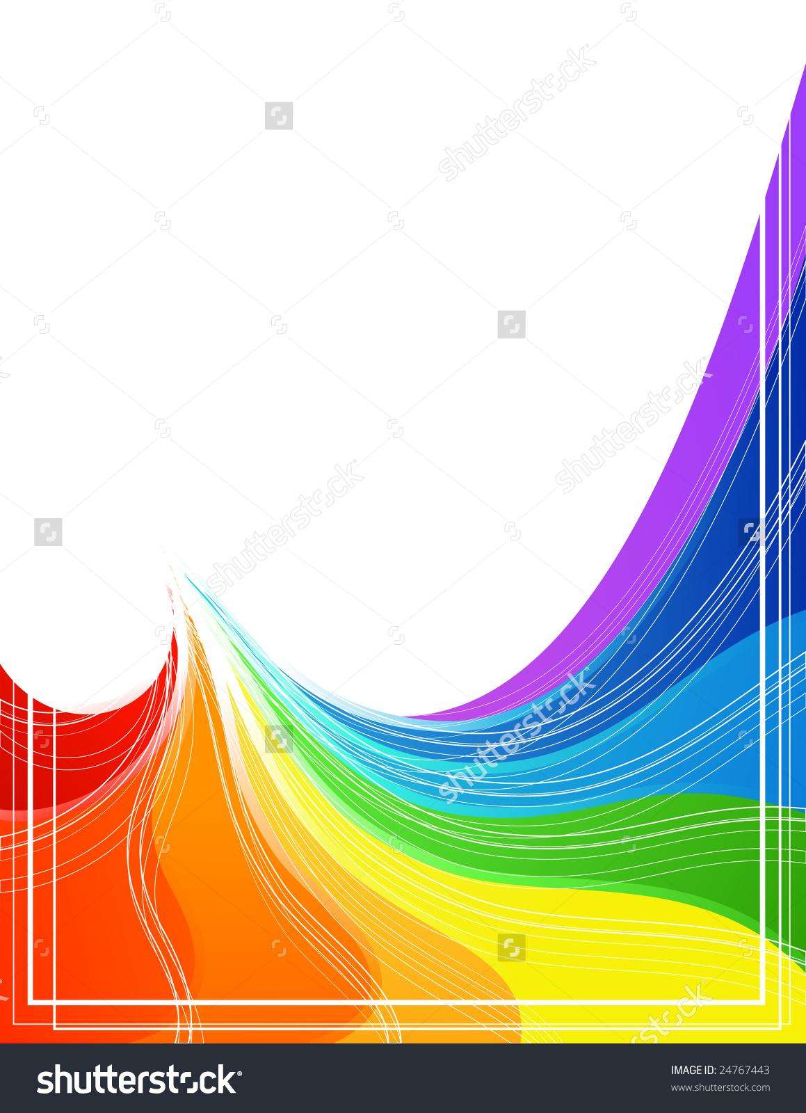 彩虹形状,矢量插图,每股收益格式-背景/素材