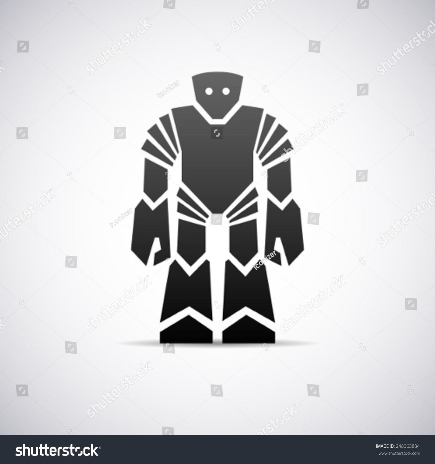 机器人矢量标志设计模板-符号/标志,运动/娱乐活动-()