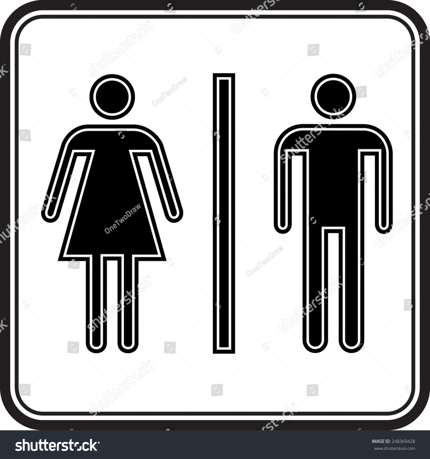 男女厕所在坐标系象征向量-背景/素材