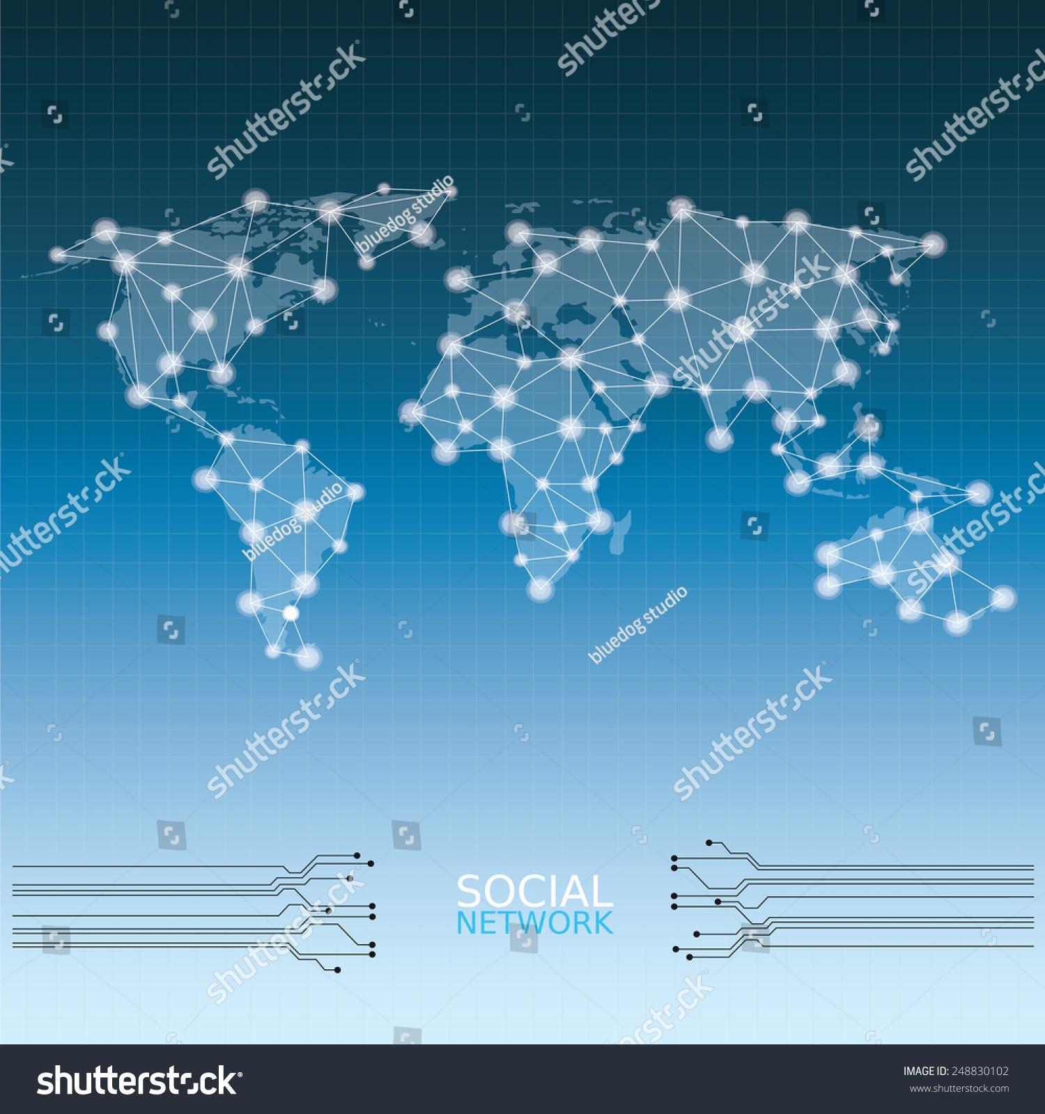 世界地图-科技-海洛创意(hellorf)-shutterstock中国