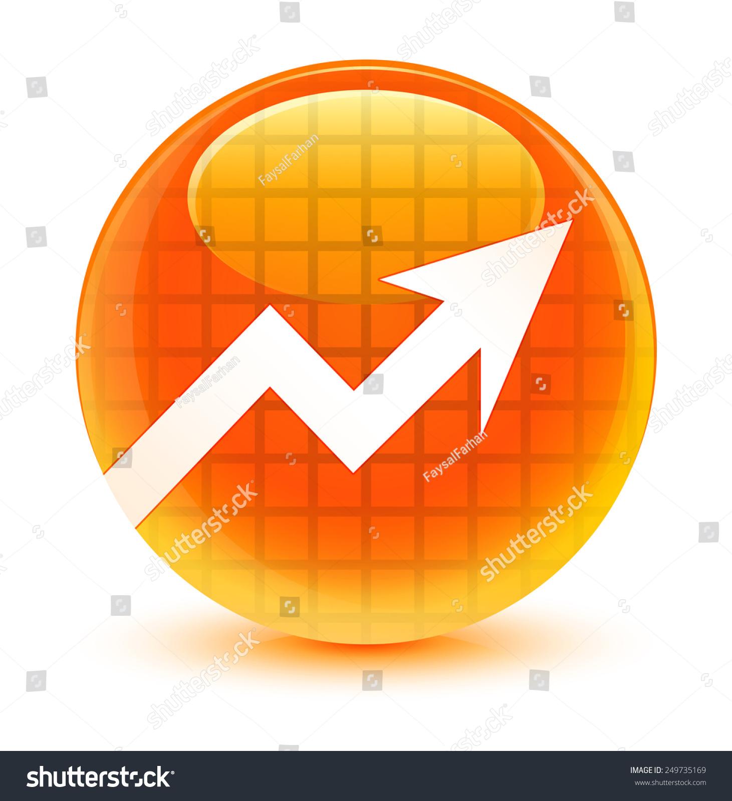 业务图标玻璃橙色按钮-商业/金融,符号/标志-海洛创意