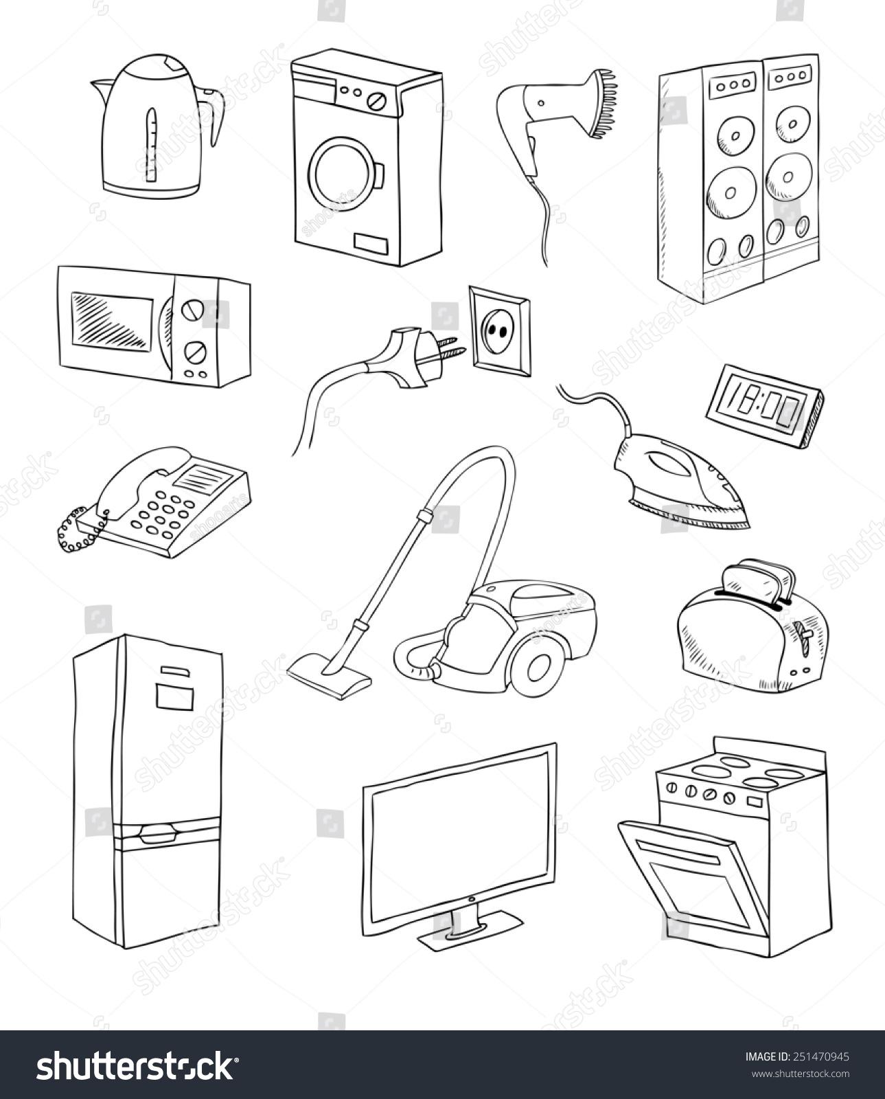 日常家用电器设置-物体,科技-海洛创意(hellorf)-中国