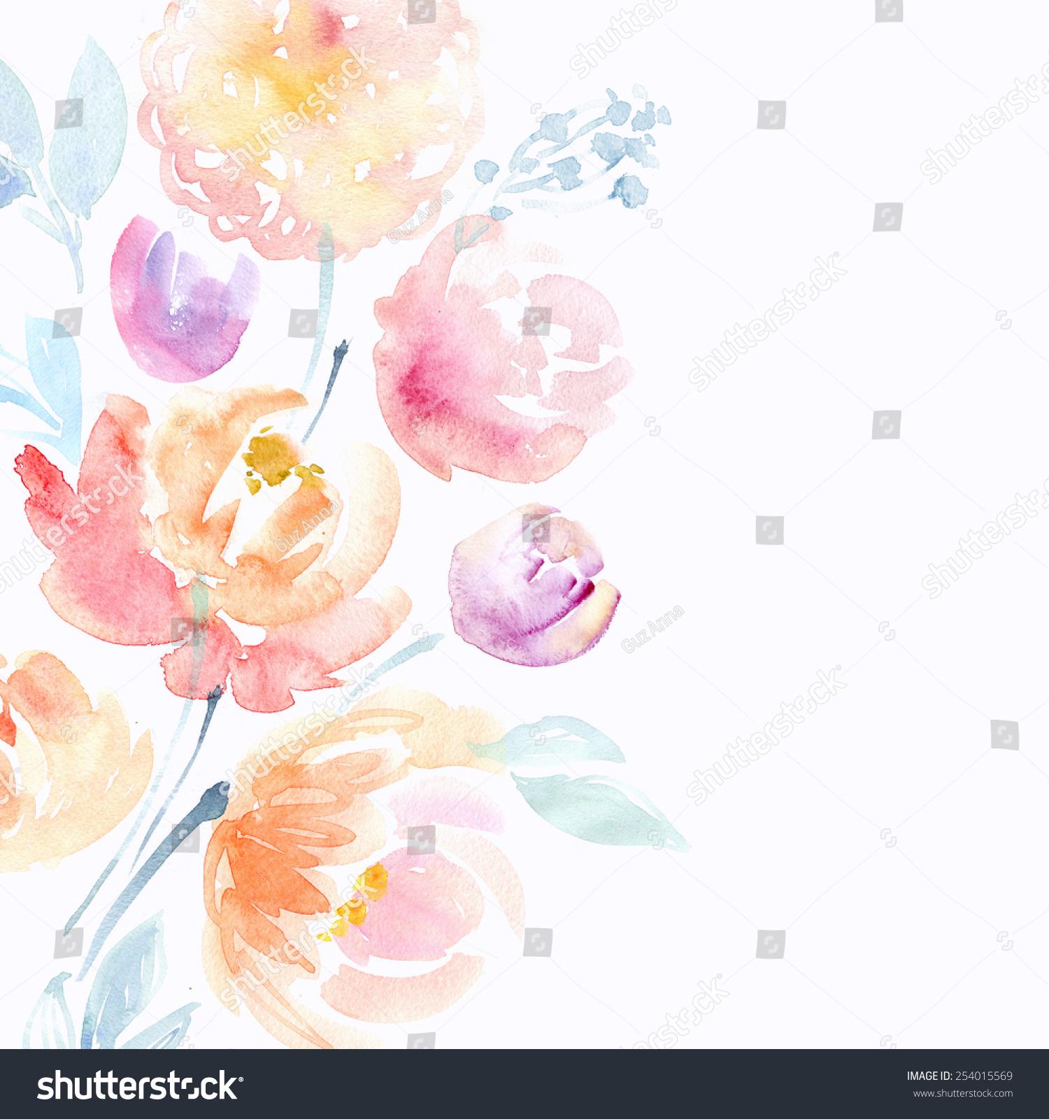 水彩粉色牡丹-背景/素材,艺术-海洛创意(hellorf)--.