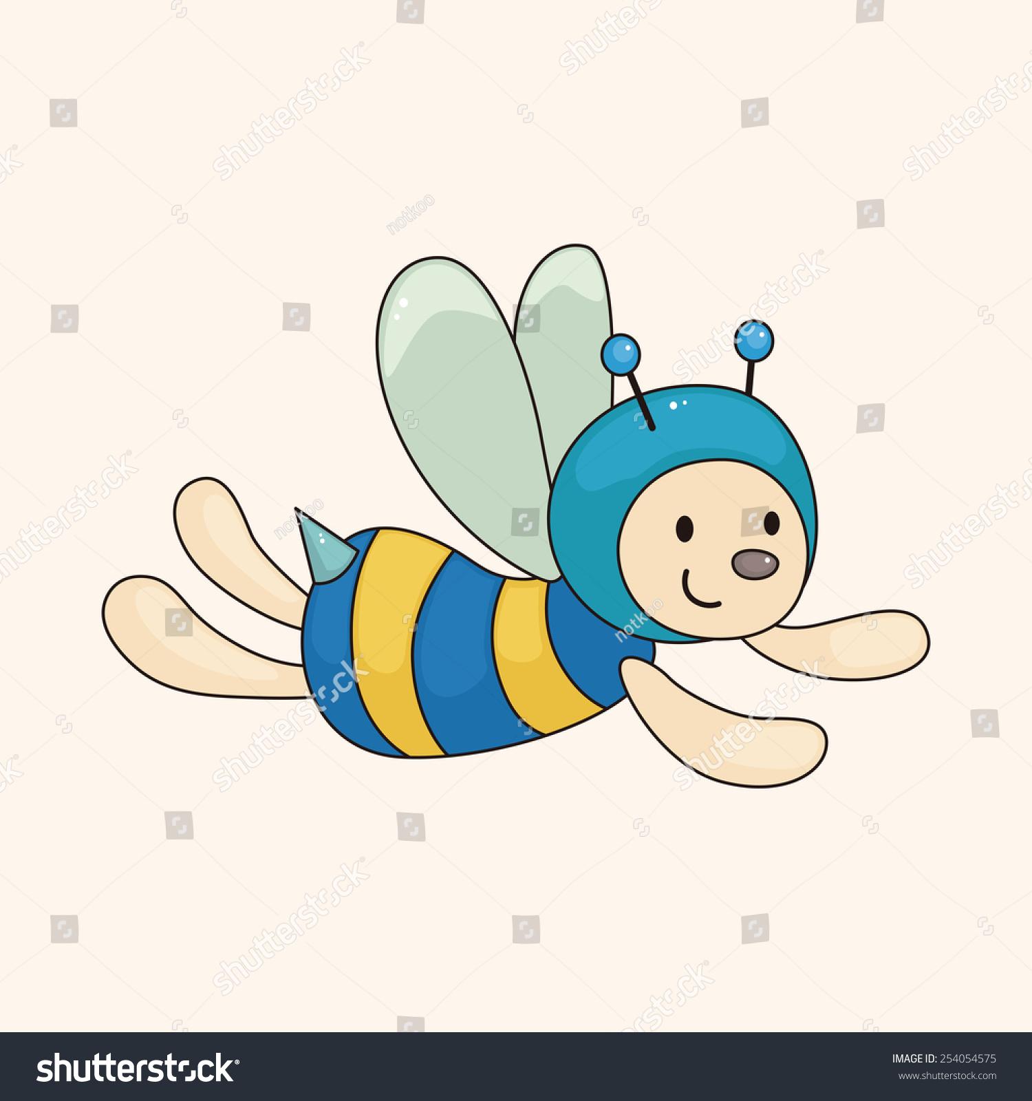 蜜蜂卡通主题元素