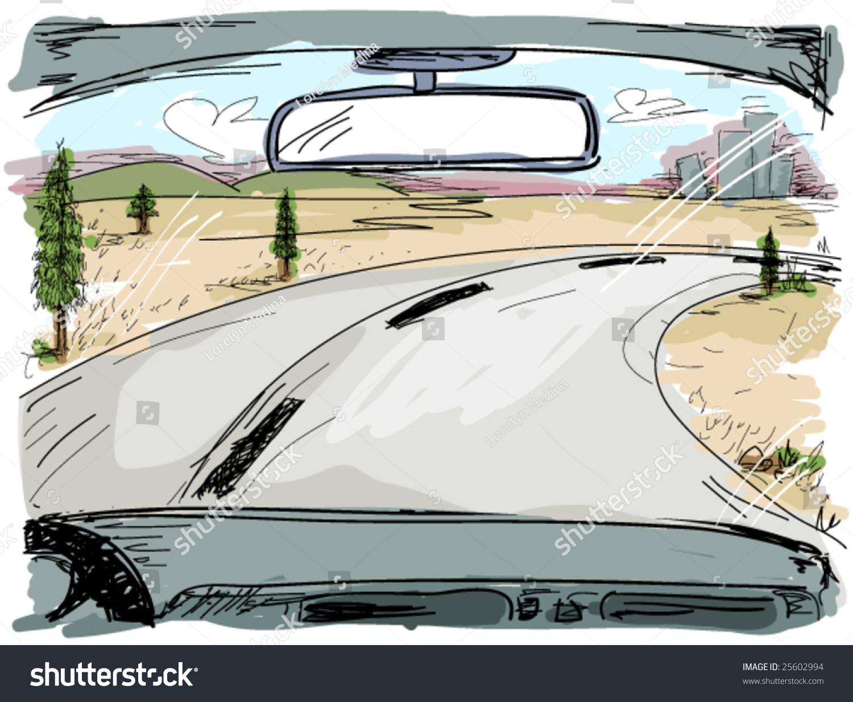 公路旅行(涂鸦)-背景/素材,插图/剪贴图-海洛创意()-.
