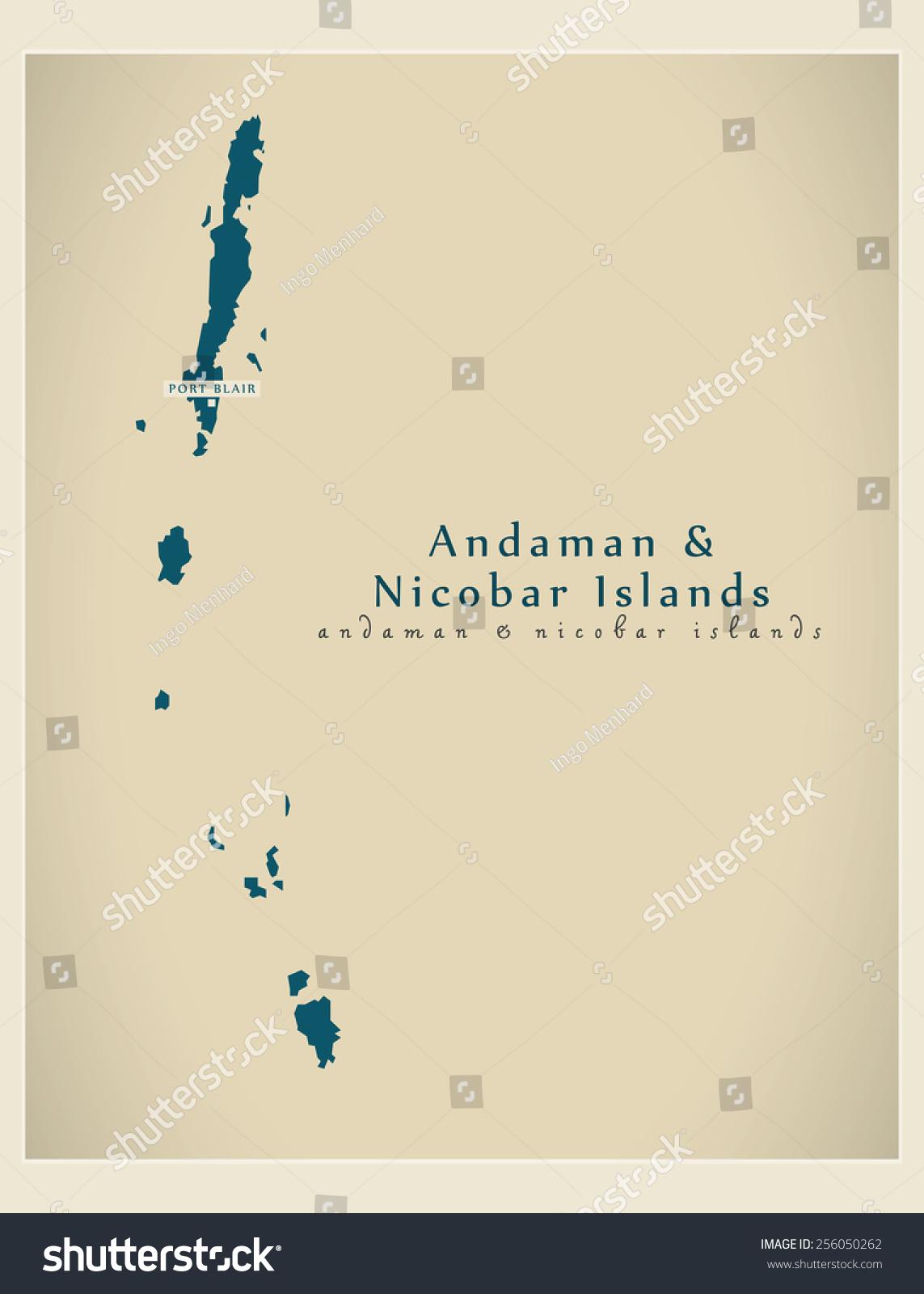 现代地图-安达曼和尼科巴群岛