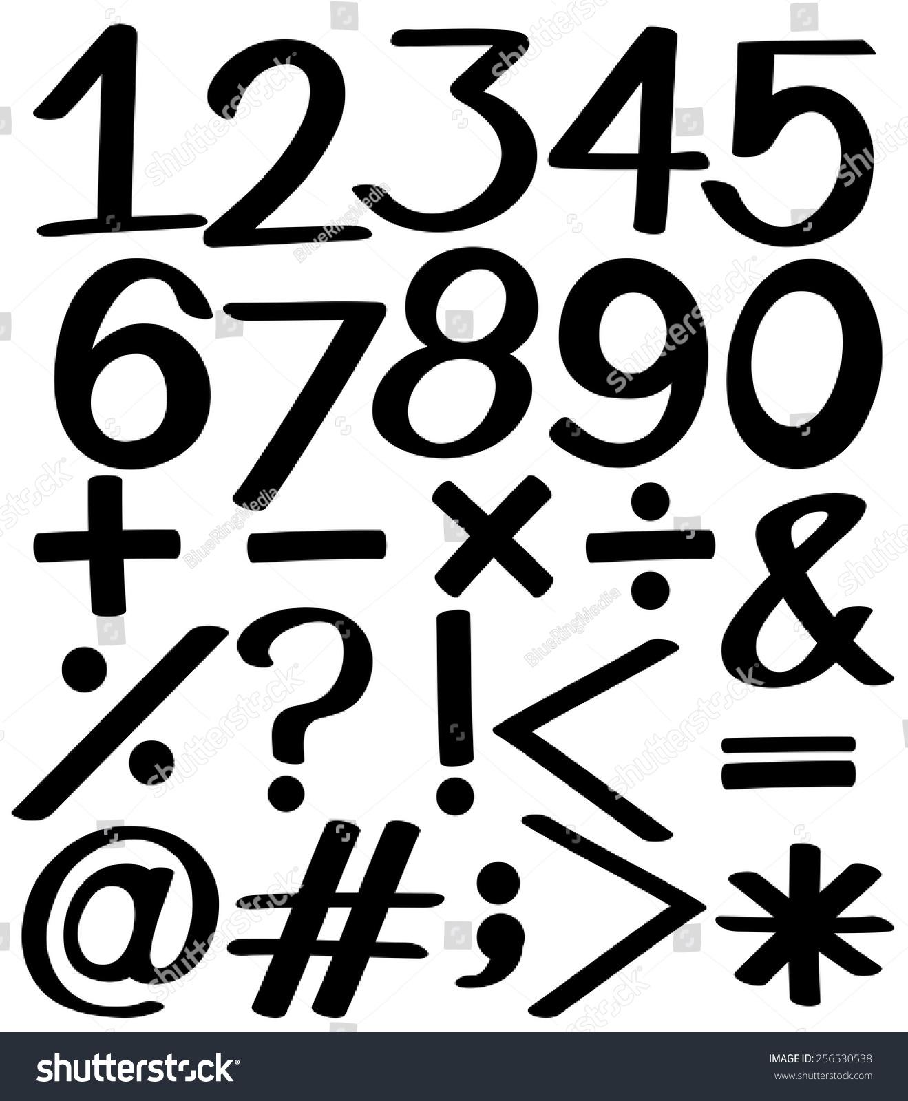 黑白背景上的数字集合-物体-海洛创意(hellorf)-中国图片