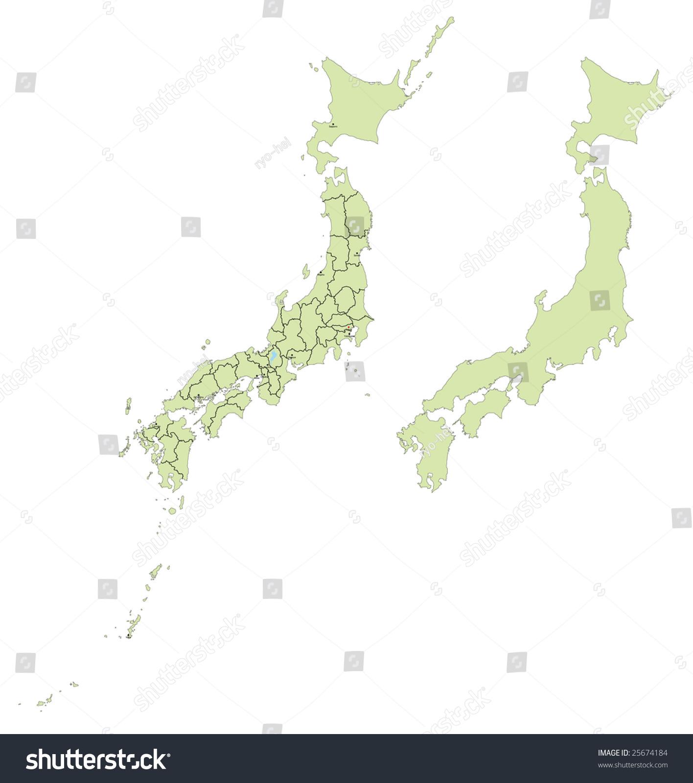 日本本州边境地图-物体,插图/剪贴图-海洛创意()-中国