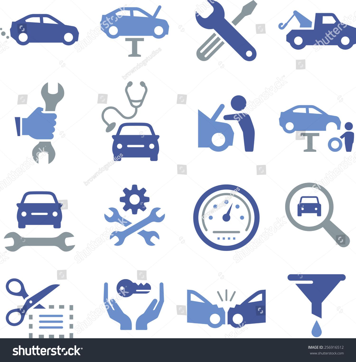 汽车修理图标.