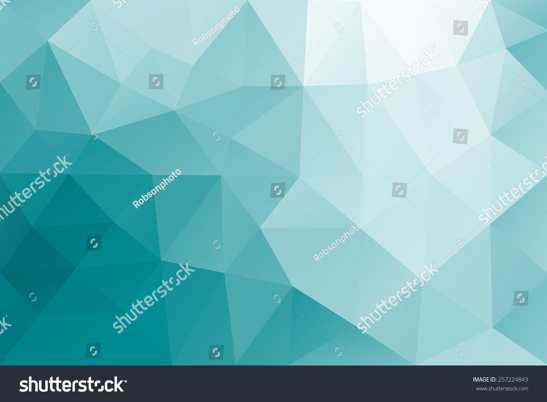 抽象的海洋蓝色三角形几何背景说明.-背景/素材,抽象图片