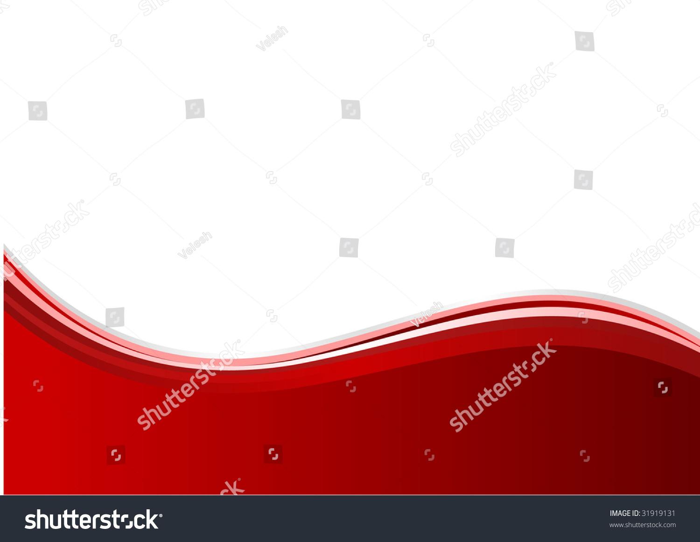 抽象的红色背景.矢量图与波
