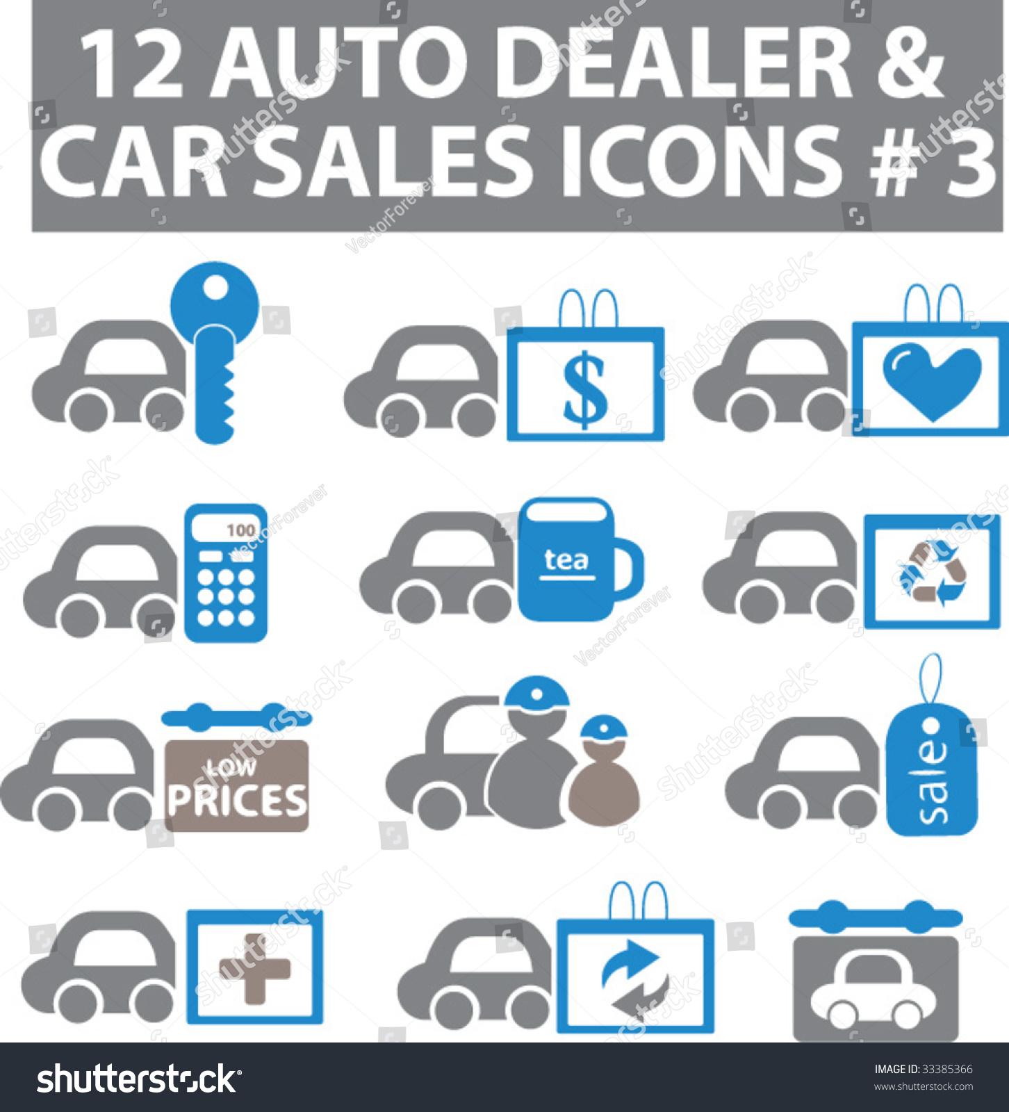 16个汽车服务中心图标.蓝灰色的版本.向量