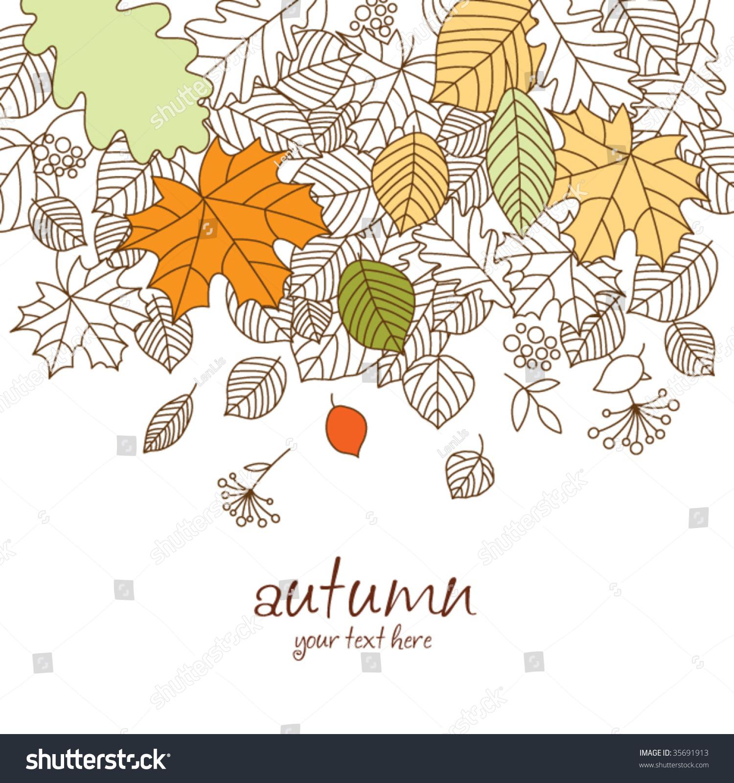 秋天的落叶-背景/素材