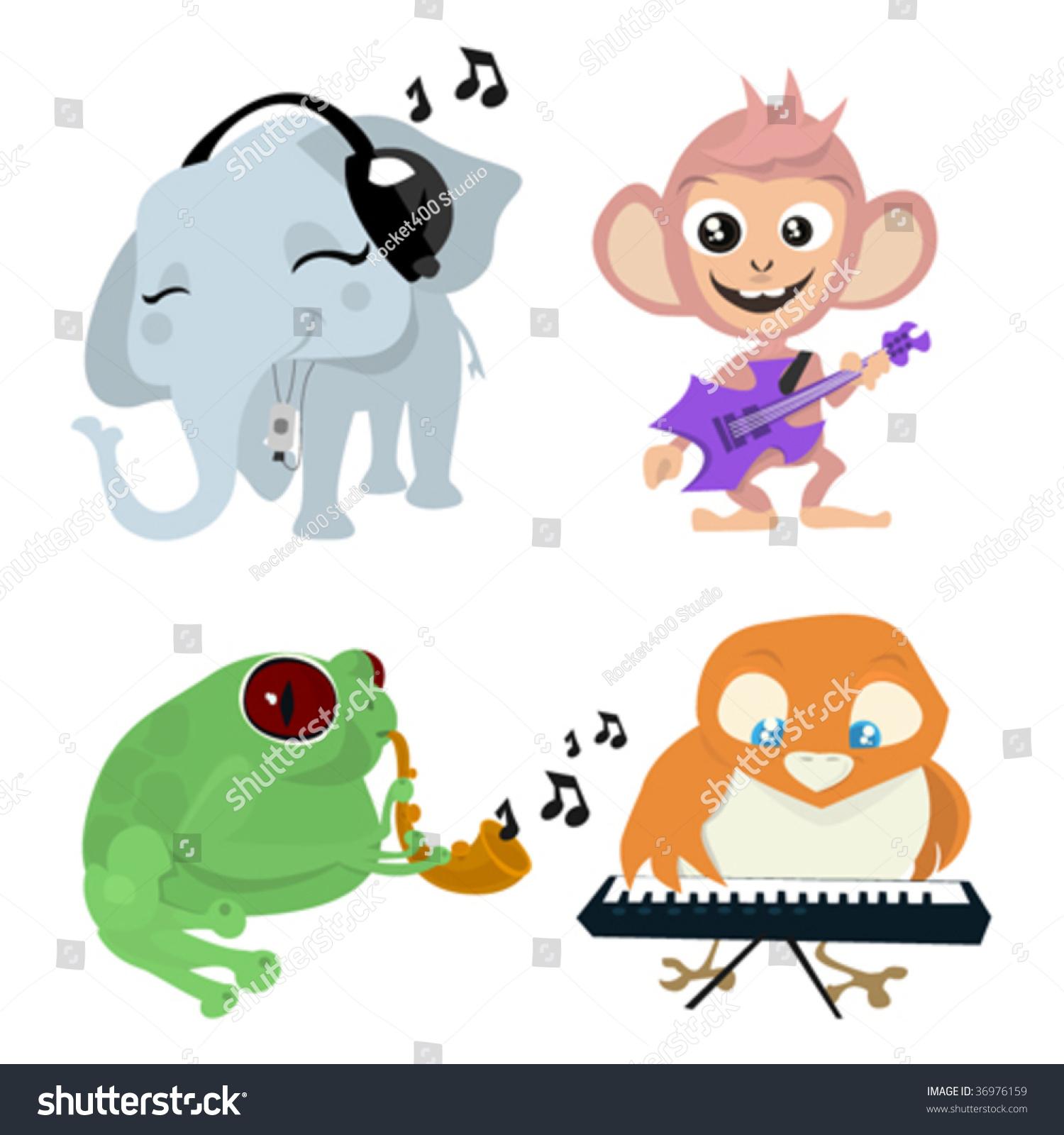 可爱的动物乐队-动物/野生生物