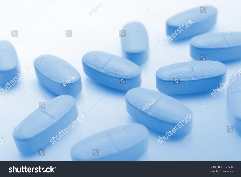 特写的蓝色药片的背景-背景/素材,医疗保健-海洛创意