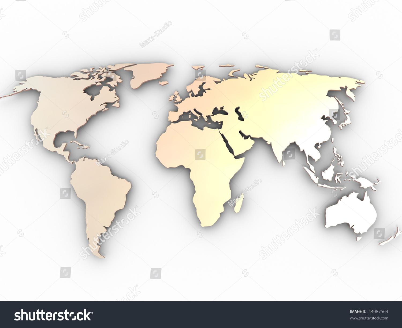 世界地图.3 d-插图/剪贴图,物体-海洛创意(hellorf)-.