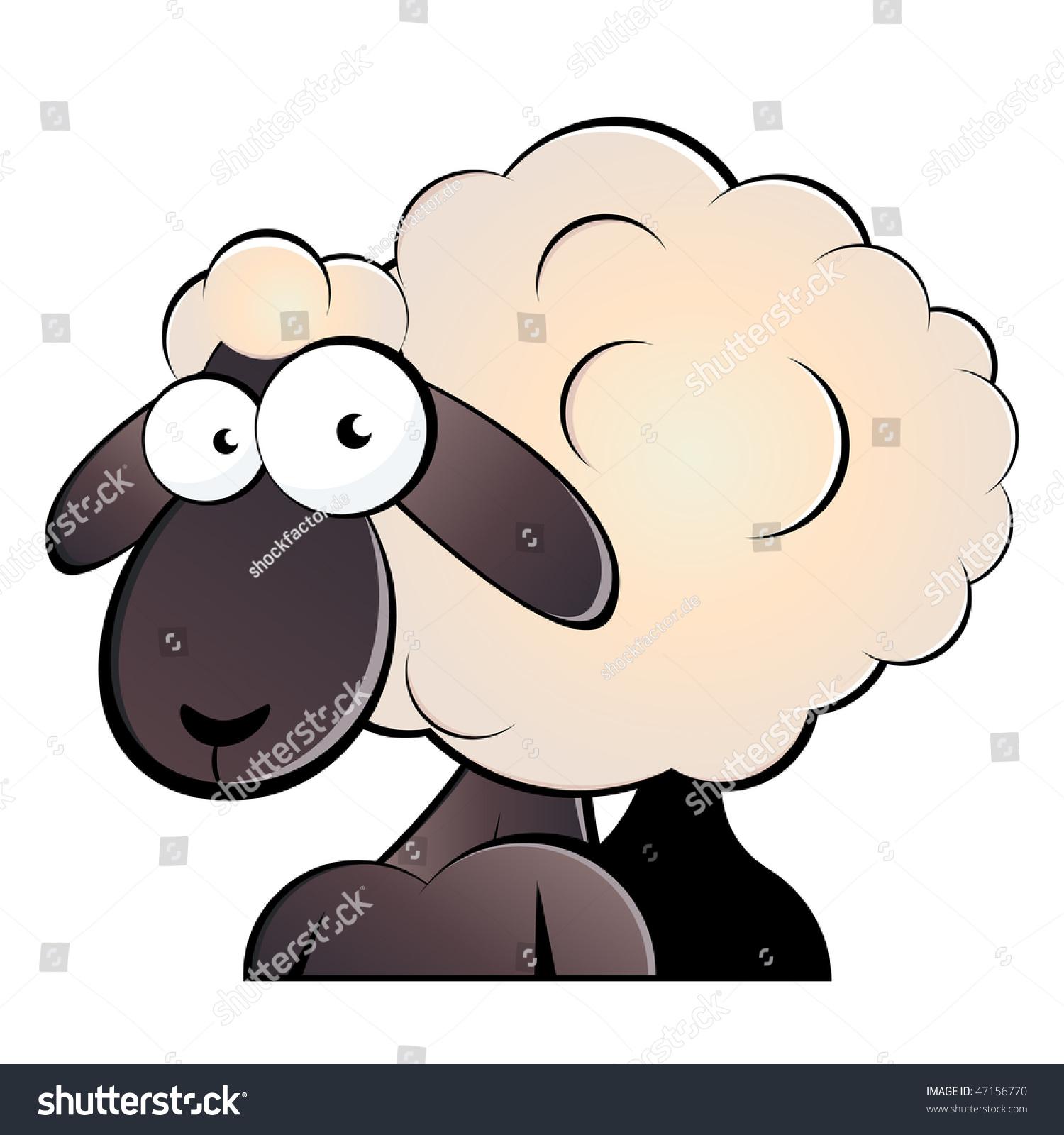 有趣的卡通绵羊-动物/野生生物