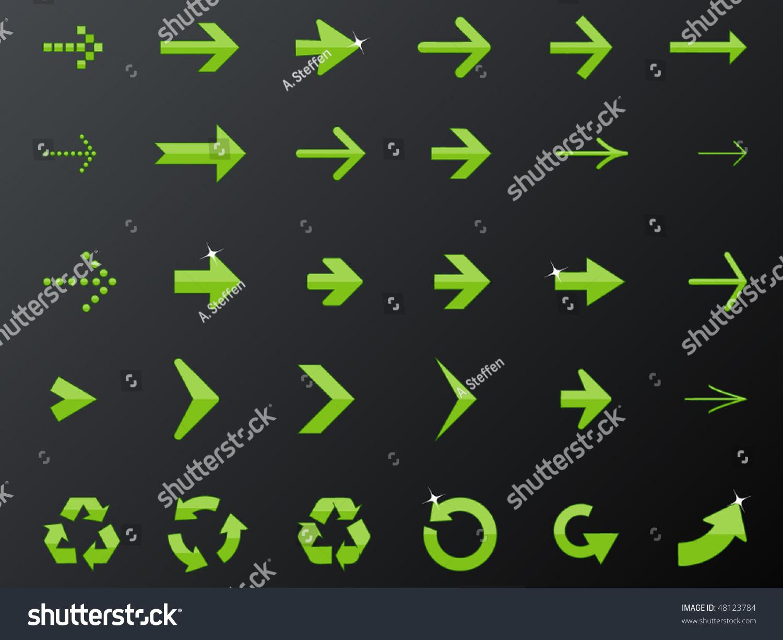 矢量箭头符号-插图/剪贴图,符号/标志-海洛创意()-合.