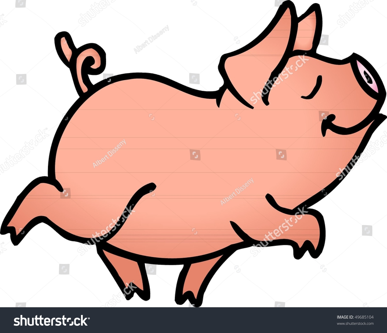 ppt图片素材小猪做蛋糕