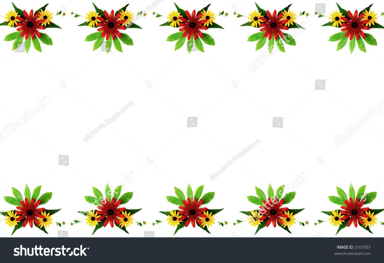 对比颜色强度花卉枝叶矢量图