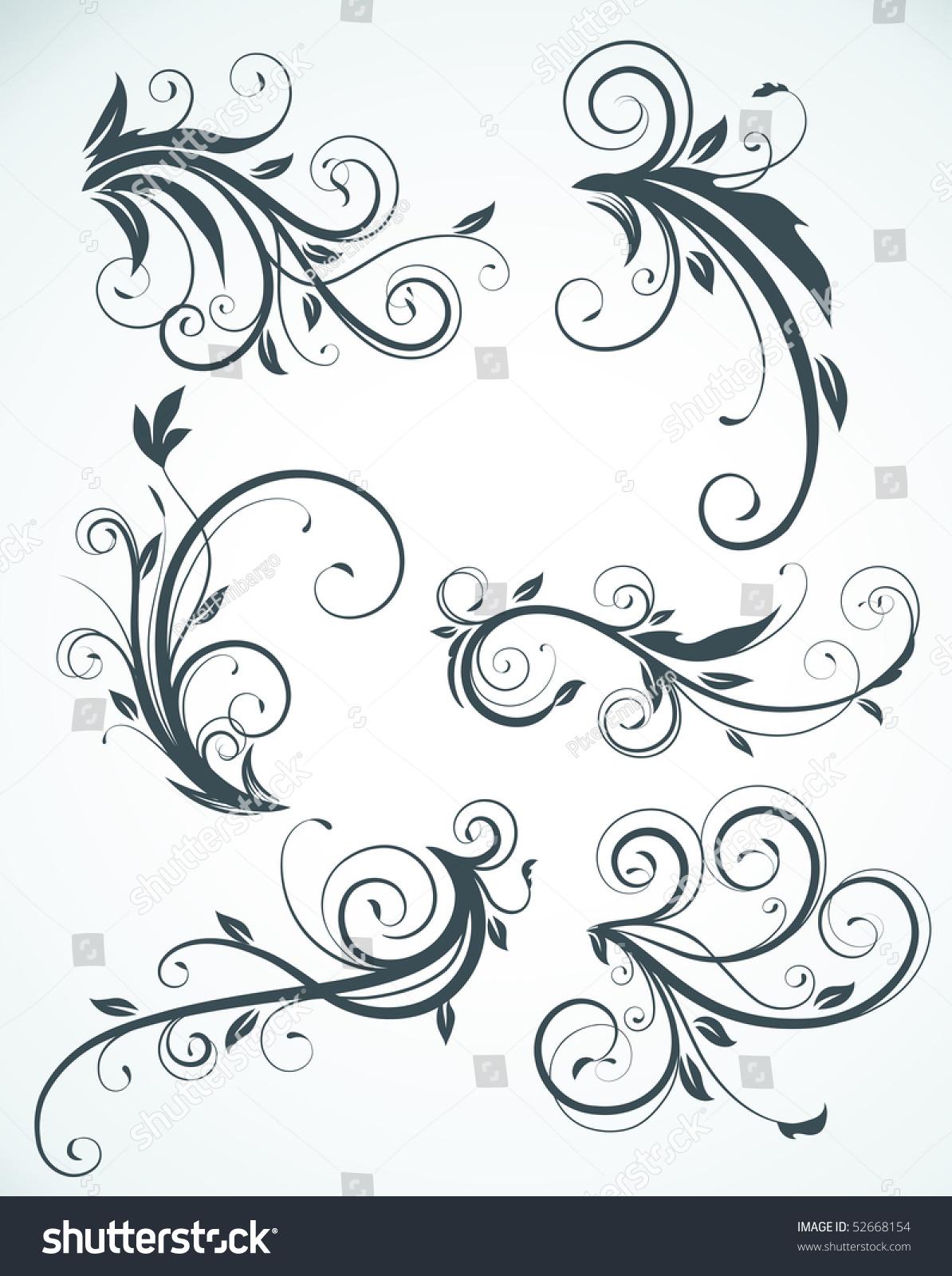 欧式花纹简笔画 复杂风景