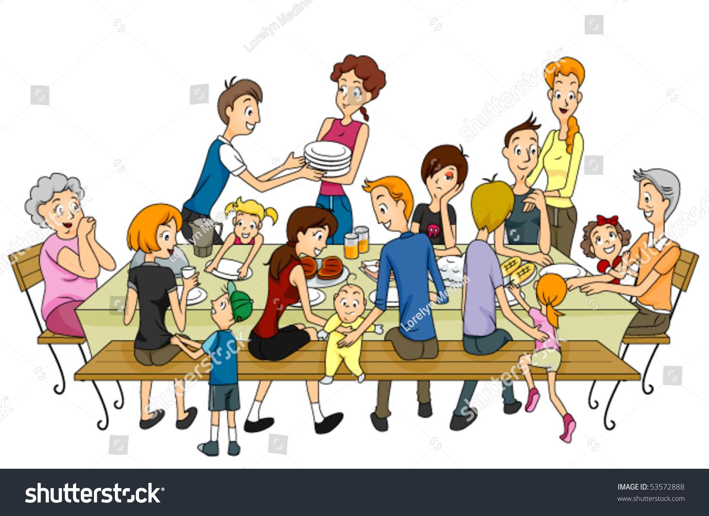 家庭聚会-向量