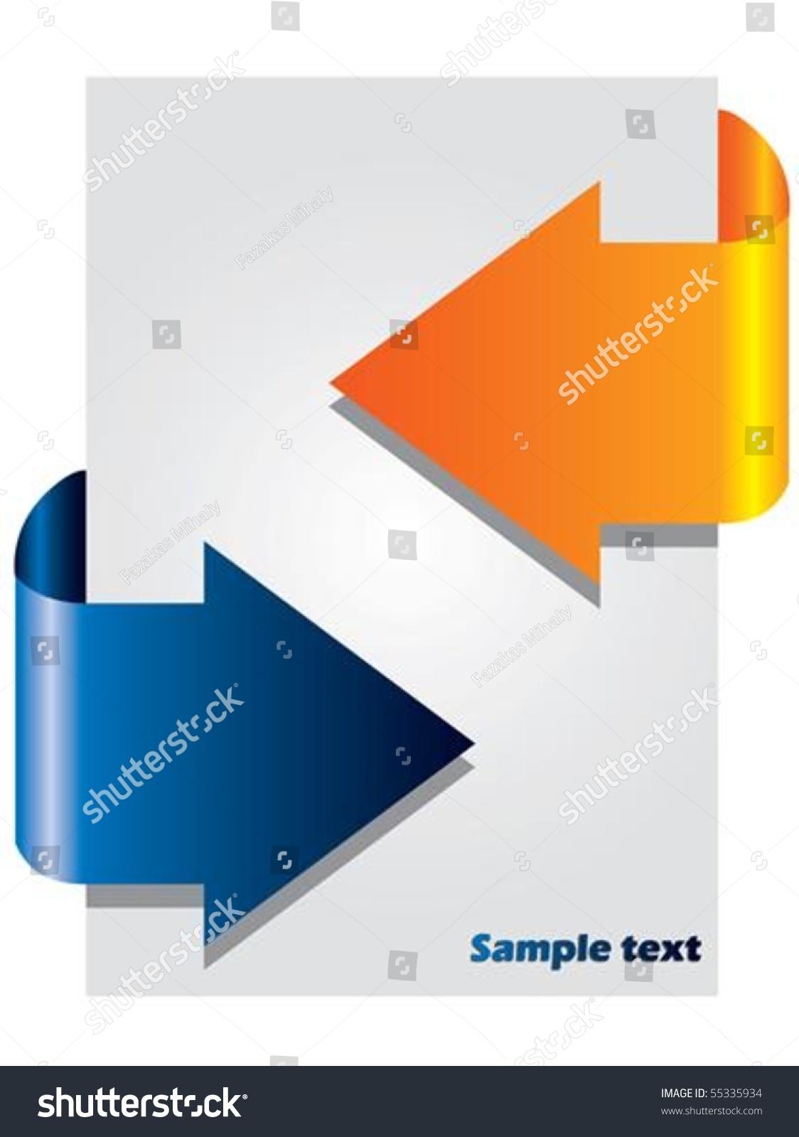 双色箭头小册子-背景/素材,插图/剪贴图-海洛创意()-.