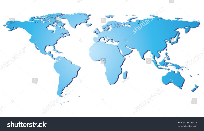 世界地图-插图/剪贴图,符号/标志-海洛创意(hellorf)