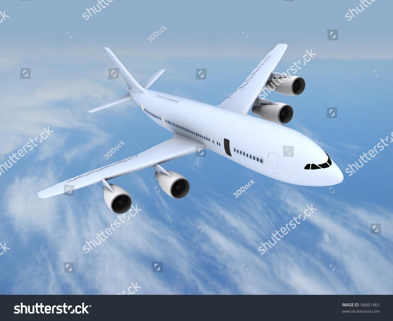 飞行的喷气式飞机-交通运输,插图/剪贴图-海洛创意()