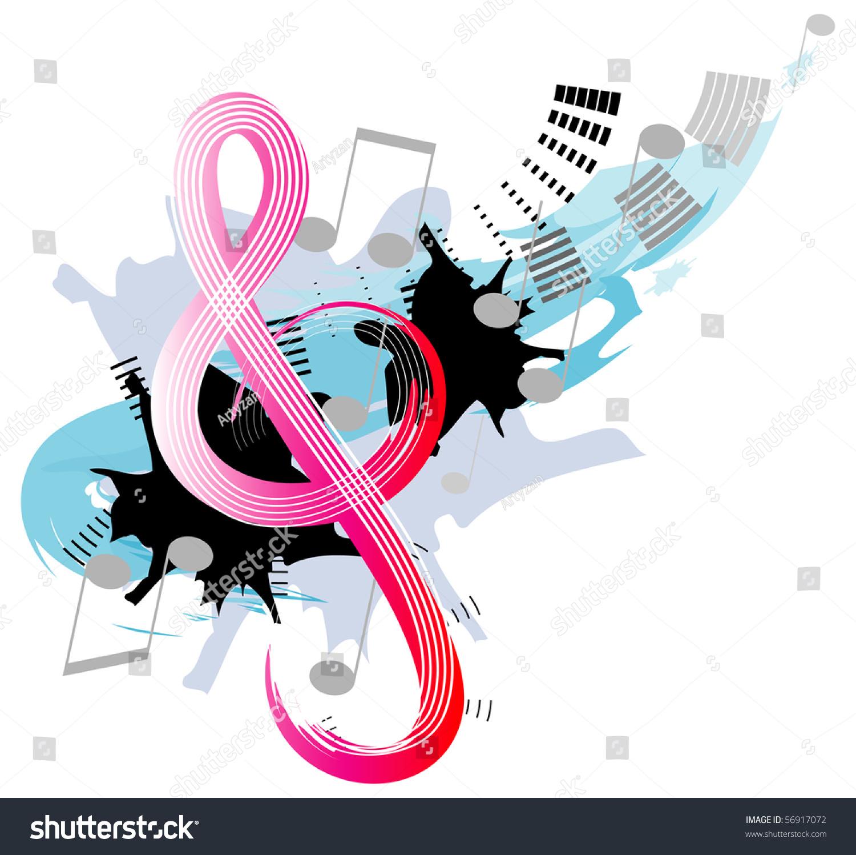 高音谱号-插图/剪贴图,符号/标志-海洛创意(hellorf)