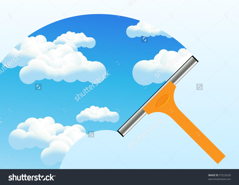 清洁窗口,矢量插图-插图/剪贴图,自然-海洛创意()-合.