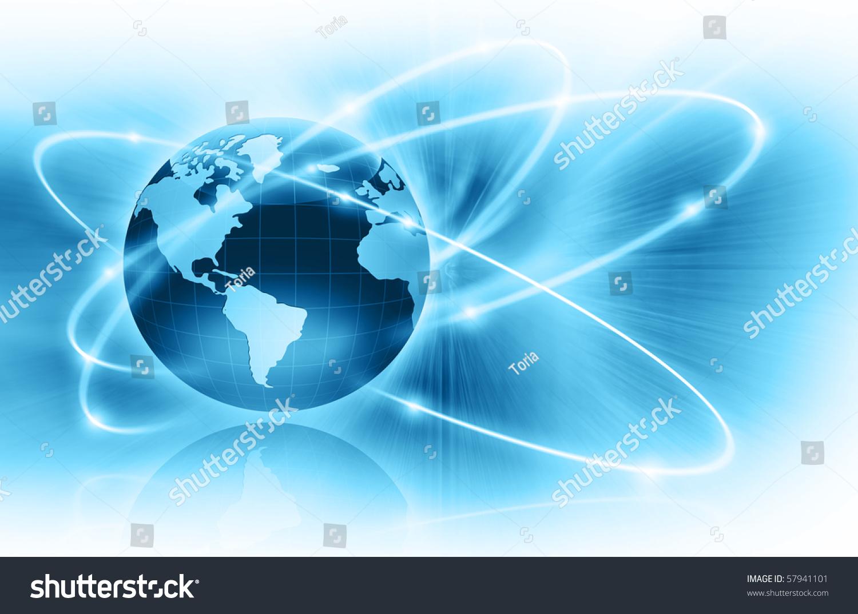 最好的互联网概念系列的全球商业概念-插图/剪贴图