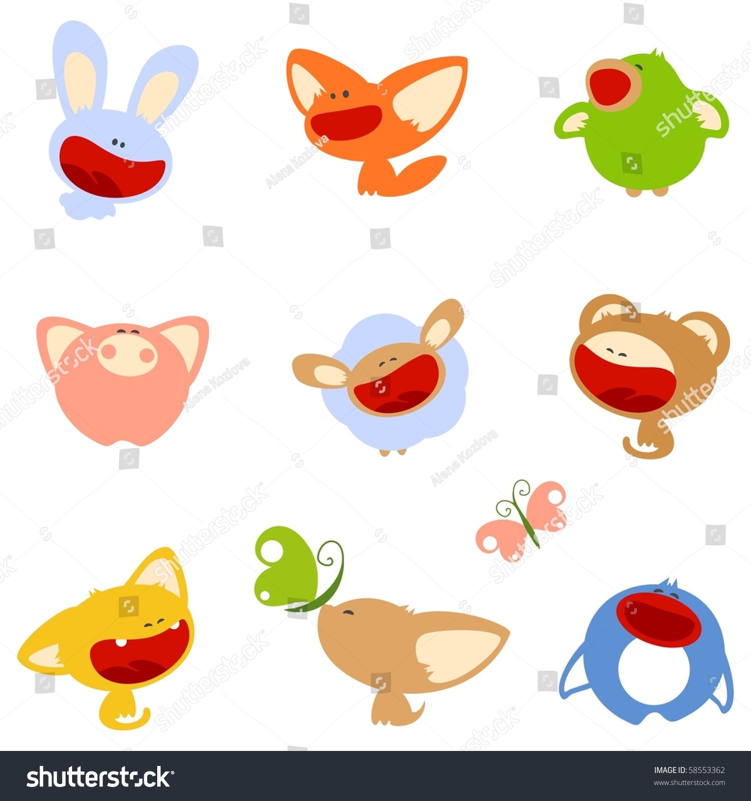 可爱的动物(光栅版)-插图/剪贴图
