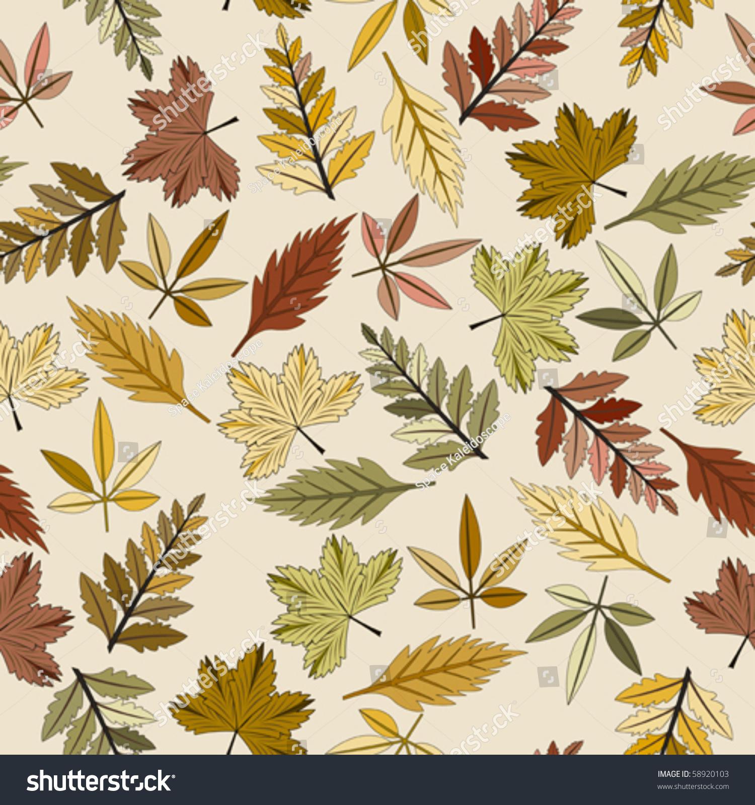 无缝秋叶模式-背景/素材,插图/剪贴图-海洛创意()-合.图片