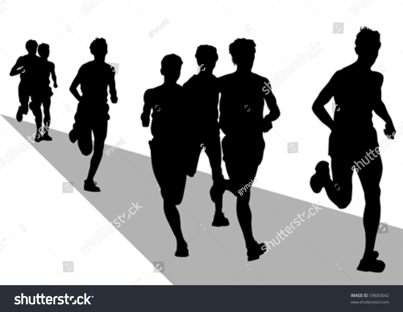 矢量图跑步运动员
