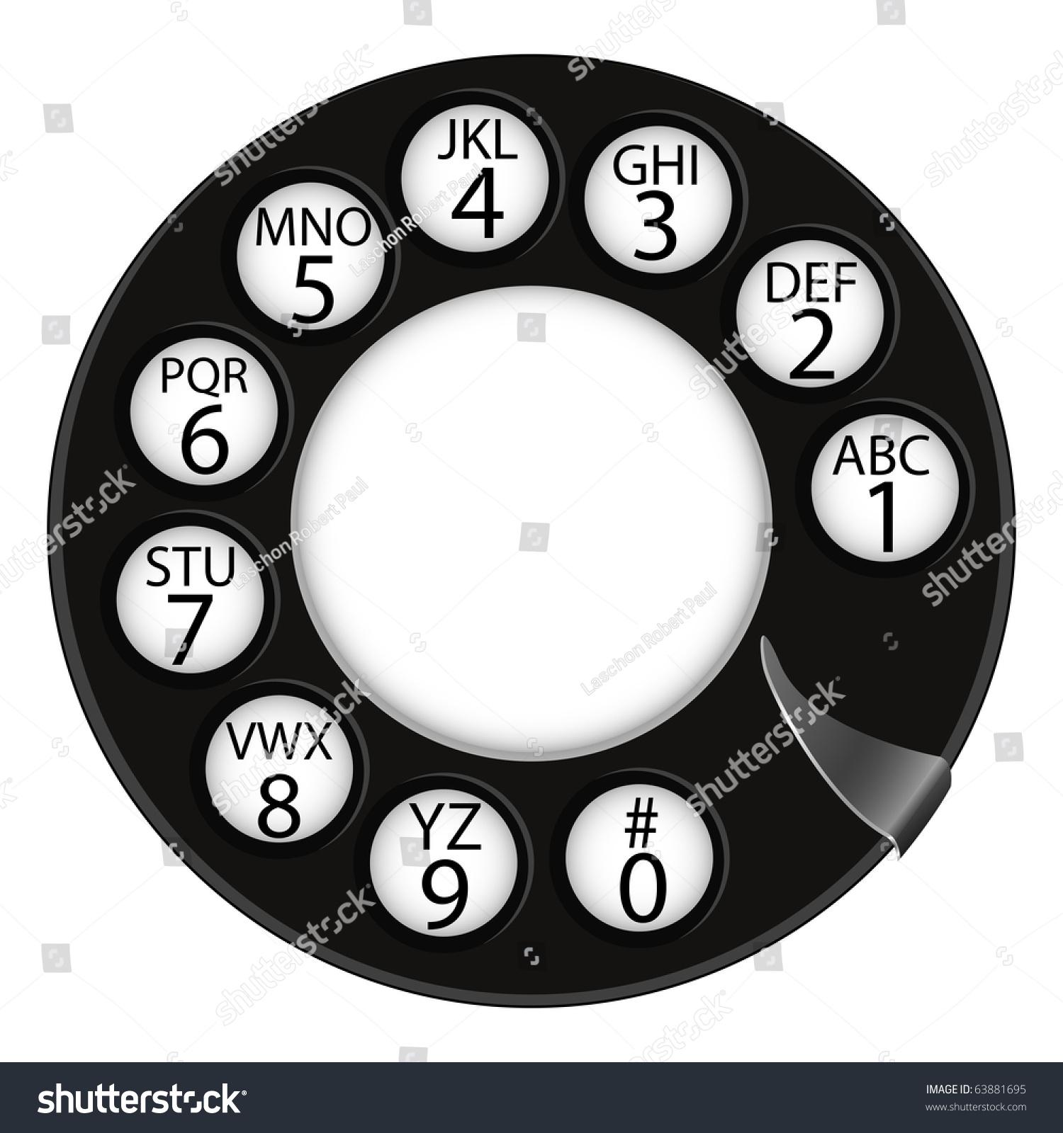 ppt矢量图电话线