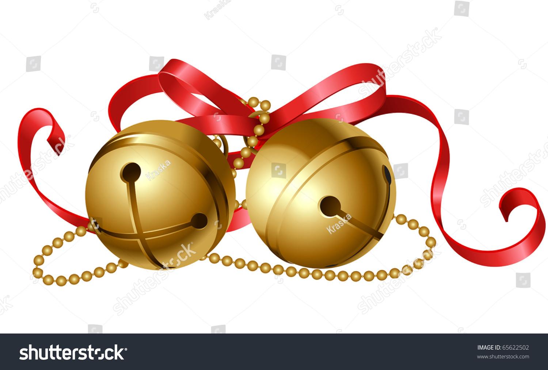 圣诞节的象征与红色的蝴蝶结铃儿响叮当-假期,插图/图