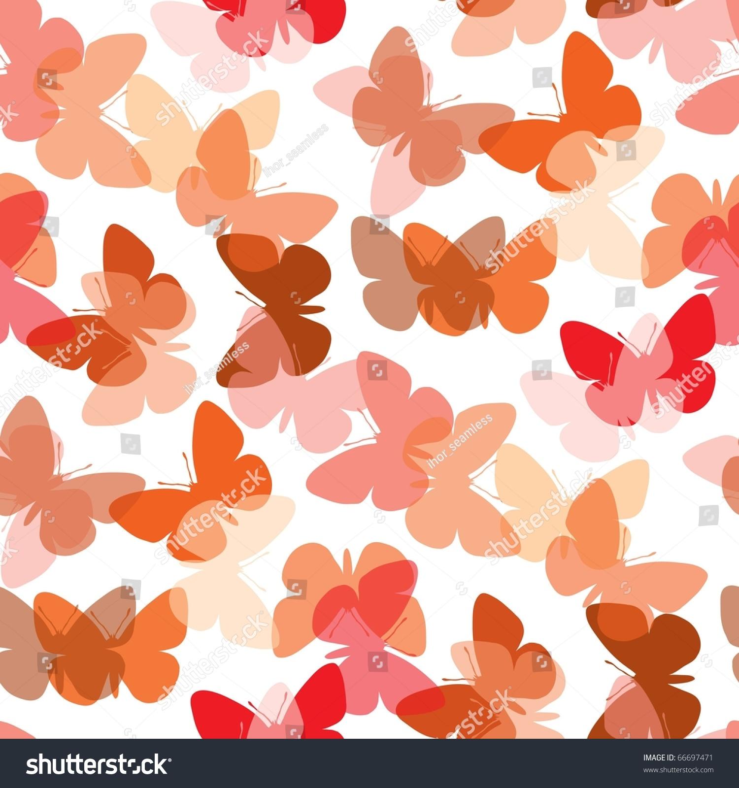热无缝蝴蝶背景白色-背景/素材,插图/剪贴图-海洛创意